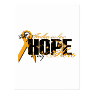 Father-in-law My Hero - Leukemia Hope Post Card