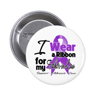 Father-in-Law - Pancreatic Cancer Ribbon 6 Cm Round Badge