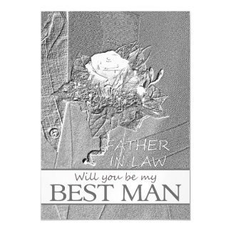 Father in Law  Please be best man - invitation Magnetic Invitations