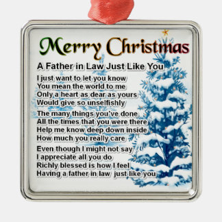 Father in Law Poem - Christmas Design Ornament