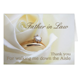 Father in Law Thanks for Walking me down Aisle Card
