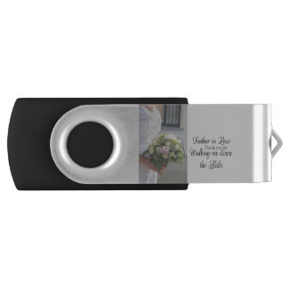 Father in Law Thanks for Walking me down Aisle Swivel USB 3.0 Flash Drive