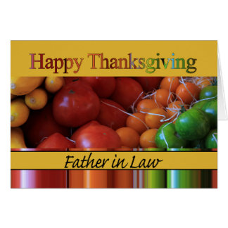 Father in Law Thanksgiving Card