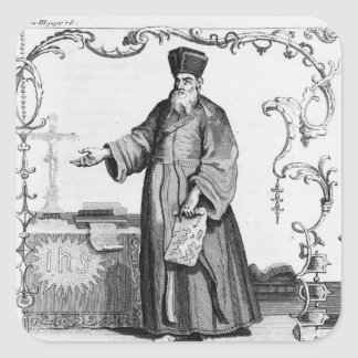 Father Matteo Ricci Square Sticker
