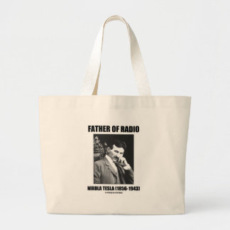 Father Of Radio Nikola Tesla (1856-1943) Large Tote Bag