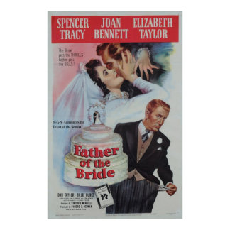 Father of the Bride (1950) Poster