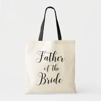 Father of the bride. Black and white wedding bag
