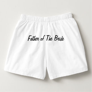 Father of The Bride BoxerCraft White Boxer Boxers