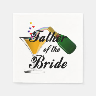 Father of the Bride Champagne Toast Paper Serviettes