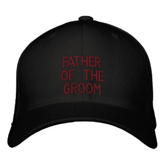 Father of the Groom Embroidered Hats