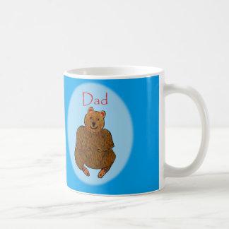 Father's Day Bear Cup Basic White Mug