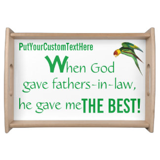 Father s Day-Personalized Food Tray Fathers-in-law