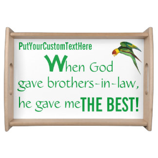 Father s Day-Personalized Food TrayBrothers-in-law Serving Platters