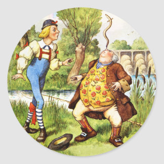 Father William Balances an Eel on His Nose Classic Round Sticker