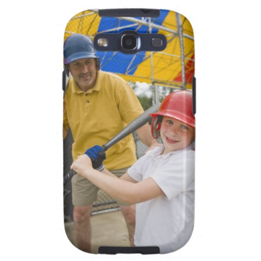 Father with daughter at batting cage galaxy SIII covers