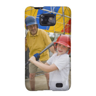 Father with daughter at batting cage galaxy SII case