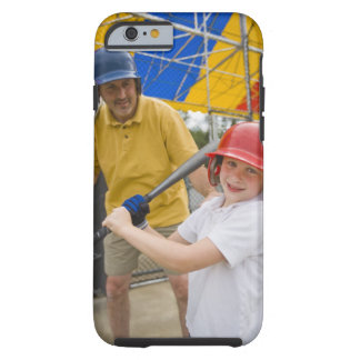 Father with daughter at batting cage tough iPhone 6 case