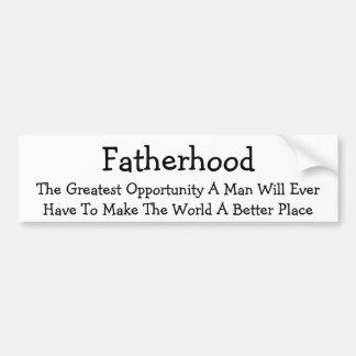 Fatherhood Bumper Sticker