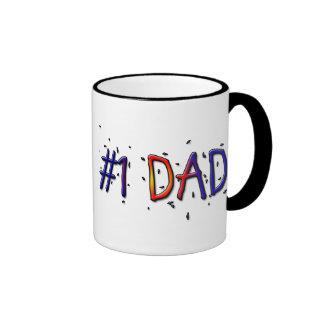 Father's Day #1 Dad Coffee Mug
