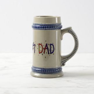 Father's Day #1 Dad Stein Mugs