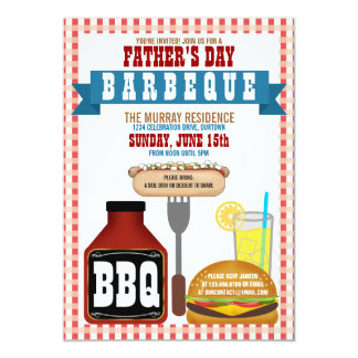 Father's Day Barbeque Party Invitations