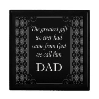 """Father's Day - Birthday """"Greatest Gift We"""" Large Square Gift Box"""