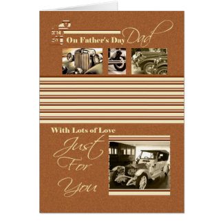 Father's Day Card Classic Cars