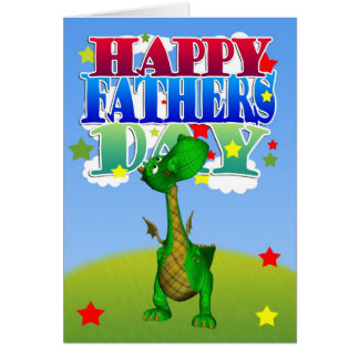 Father's Day Card cute Dragon