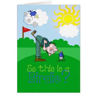 Father's Day Card Golf Birdie