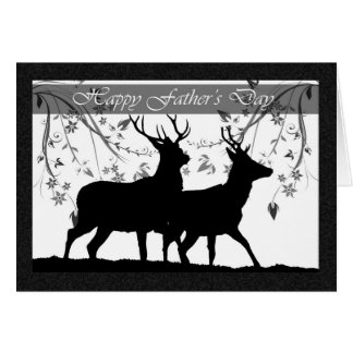 Father's Day card, with Deer Silhouette Greeting Card