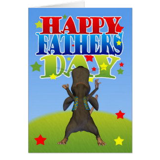 Father's Day Card With Fun Mousse
