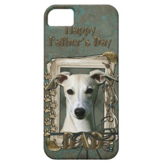 Fathers Day DAD - Stone Paws - Whippet iPhone 5 Cases