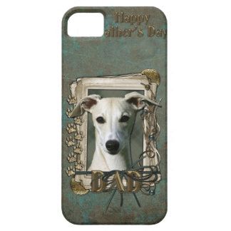 Fathers Day DAD - Stone Paws - Whippet iPhone 5 Covers