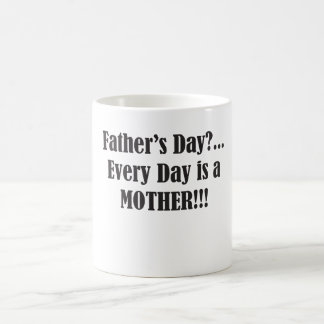 Father's Day?...Every Day is A Mother Basic White Mug