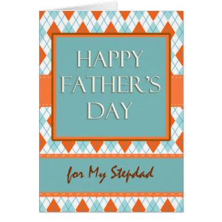 Father's Day for Stepdad, Argyle Geometric Design Card