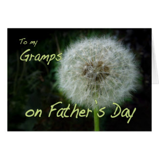 Father's Day Gramps dandelion wish for Card