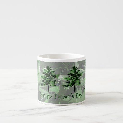 Father's Day: Green Tree Silhouette Espresso Mug