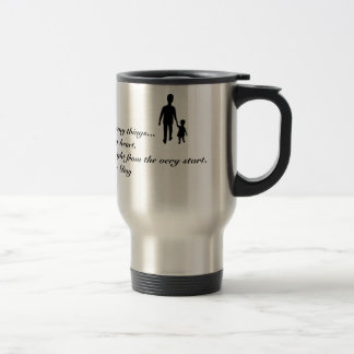 FATHER'S DAY GREETING STAINLESS STEEL TRAVEL MUG