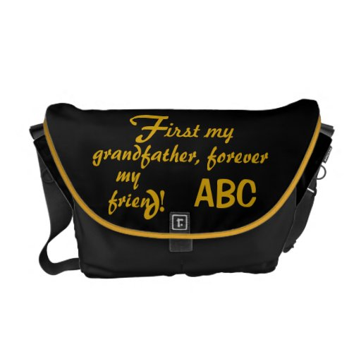 Father's Day His Initials Grandfather Courier Bags