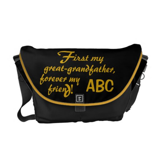 Father's Day His Initials Great-grandfather Courier Bag