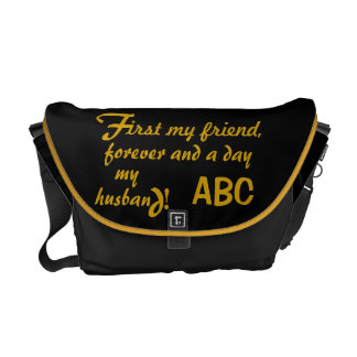 Father's Day His Initials Husband Messenger Bag