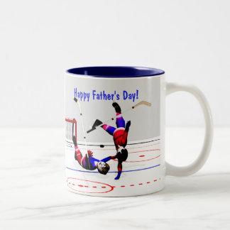 Father's Day Hockey Game Two-Tone Coffee Mug