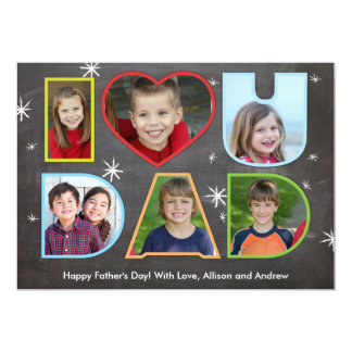 Fathers Day I (Heart) You Dad Card