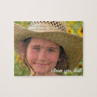 Fathers Day Photo Love You Dad Personalised Puzzles