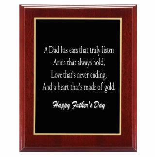 Father's Day Plaque 1 Ornament Photo Sculpture Decoration