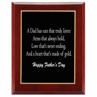 Father's Day Plaque 1 Sculpture Standing Photo Sculpture