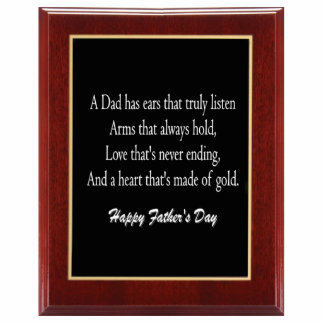 Father's Day Plaque 1 Sculpture Standing Photo Sculpture