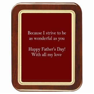 Father's Day Plaque 2 Sculpture Photo Cut Outs