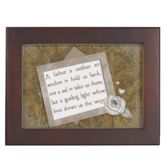 Father's Day Quote Guide Keepsake Box