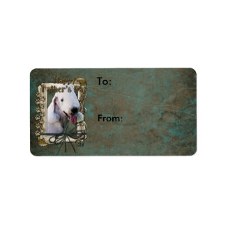 Fathers Day - Stone Paws - Bedlington Terrier Label